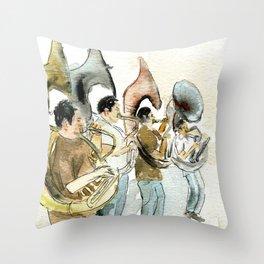 Sousaphone band Throw Pillow