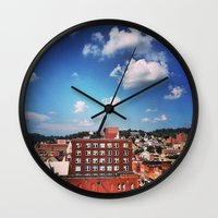 paper towns Wall Clocks featuring towns of steel by neverqueenkirk