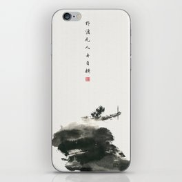 A boat in the wild iPhone Skin