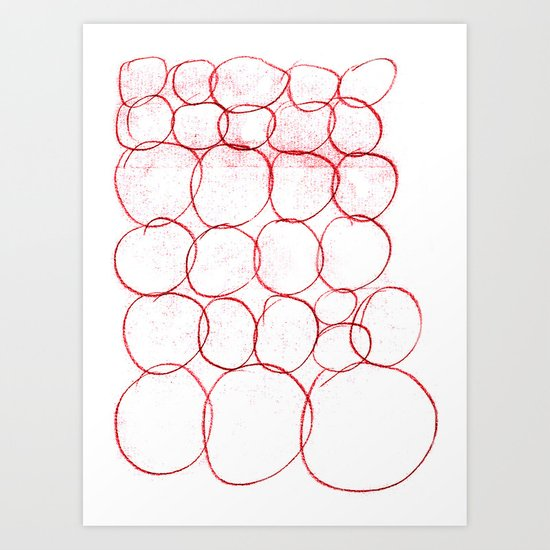 AUTOMATIC CIRCLE Art Print