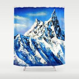 Panoramic View Of Everest Mountain Peak Shower Curtain