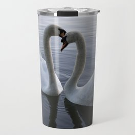 Romatic Swan Couple Travel Mug