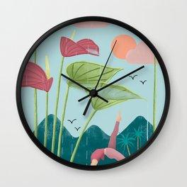 Nature yoga Wall Clock