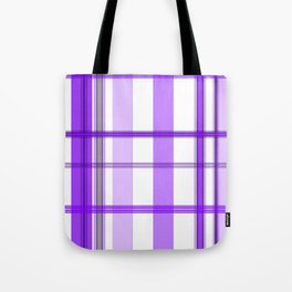 Shades of Purple and White Tote Bag
