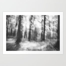 Lost in the woods - abstract infrared photograph Art Print