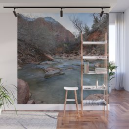 Virgin_River in Winter - Zion_National_Park Wall Mural