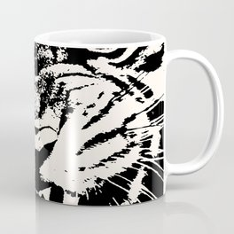 White Tiger Vector Coffee Mug