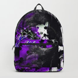 HORSE BLACK AND PURPLE THUNDER INK SPLASH Backpack