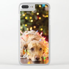 Christmas Dog Sadness! Clear iPhone Case
