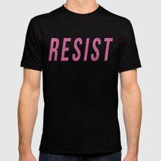 RESIST 3.0 - Pink on Black #resistance Mens Fitted Tee Black MEDIUM