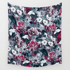 Botanical Blue Wall Tapestry