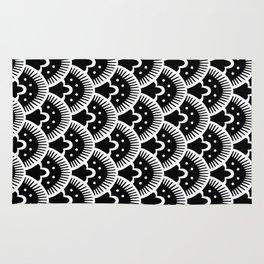 Fan Pattern Black & White 202 Rug