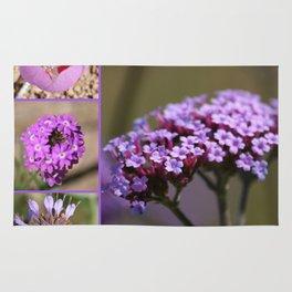 Purple Violet Pink Flowers Collage Rug