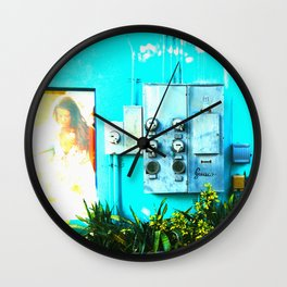 #KEY WEST POETRY by Jay Hops Wall Clock