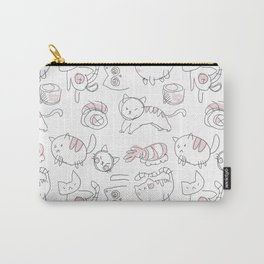Bad Doodles Cat and Sushi Carry-All Pouch