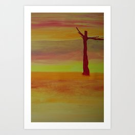 Desert Tree Art Print