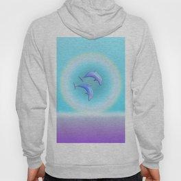 Dolphin Joy in Blue Hoody