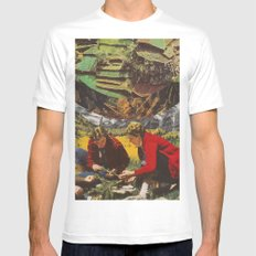 Forrest People White MEDIUM Mens Fitted Tee