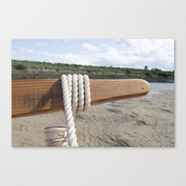 Rope on the tiller Canvas Print