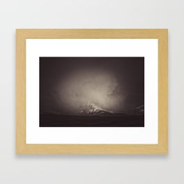 storm at ghost mountain Framed Art Print