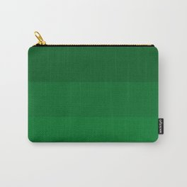 Rich Forest Evergreen Stripes Ombre Carry-All Pouch