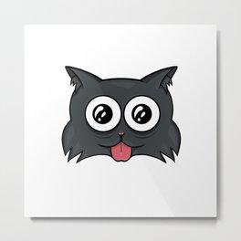 Crazy cat Metal Print