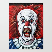 pennywise Canvas Prints featuring Pennywise by MSG Imaging