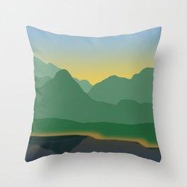 Twilight on Silverthorne Throw Pillow