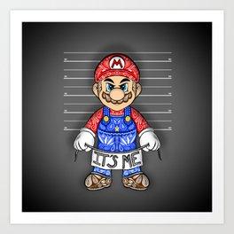 It's ME, Evil Mario !  Art Print
