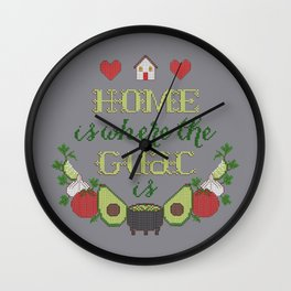 Home is where the Guac is Wall Clock