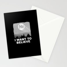I Want to Believe in a Hero Stationery Cards