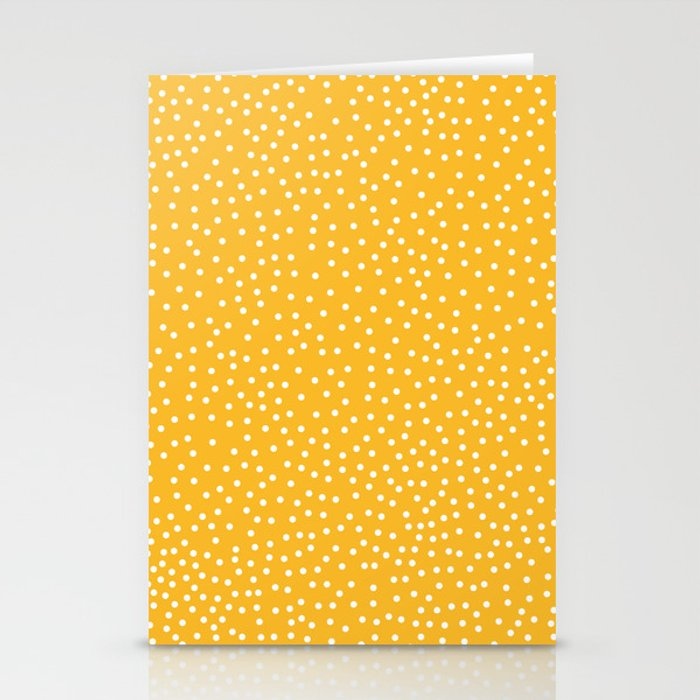YELLOW DOTS Stationery Cards
