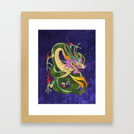 The book of 100 Dragons LEVEL 2 Japanese dragon cover Framed Art Print