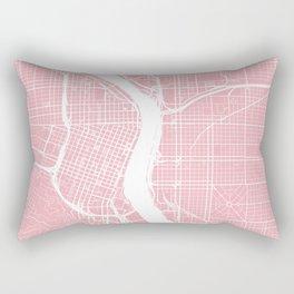 Pink City Map of Portland, Oregon Rectangular Pillow