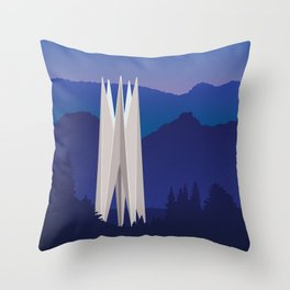 Soviet Modernism: Memorial for the 50th anniversary of Soviet Armenia in Dilijan Throw Pillow