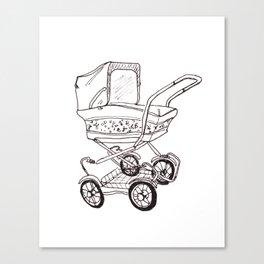 Pram baby Canvas Print
