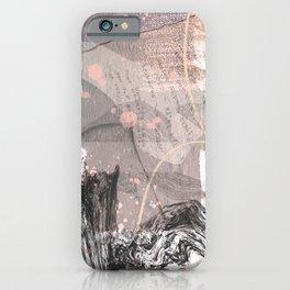 Des Nouvelles: an abstract mixed-media piece in neutrals by Alyssa Hamilton Art iPhone Case