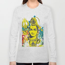Shiv Fusion: The Resonance of Bliss – Portal to Higher Dimensions Long Sleeve T-shirt