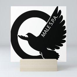 MALE SPA - BLACK DOVE LOGO Mini Art Print