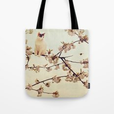 Cat in tree  Tote Bag