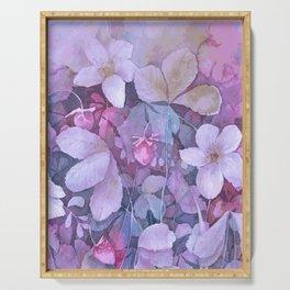 Purple flowers Serving Tray