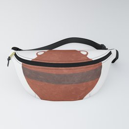 Minimal Abstract Greek Vase 11 - Hydria - Terracotta Series - Modern, Contemporary Print - Brown Fanny Pack