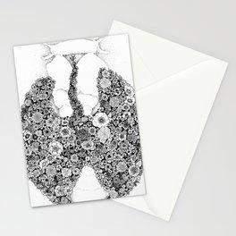 Anatomy Series: Thyroid Gland Flowers Stationery Cards