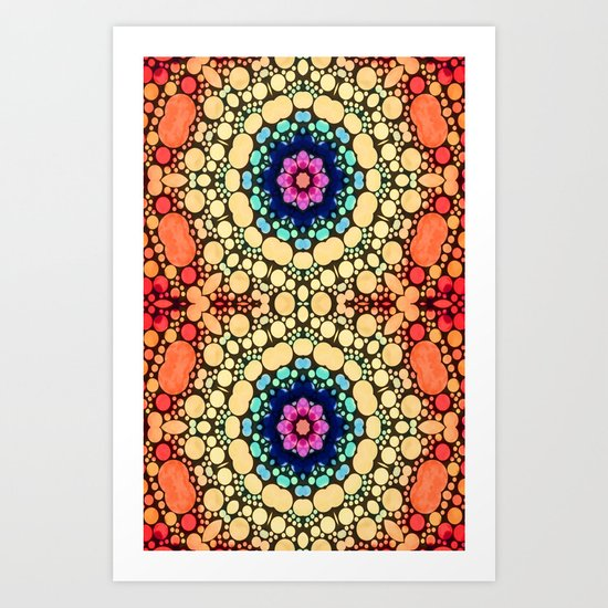 Orange Energy Art Print
