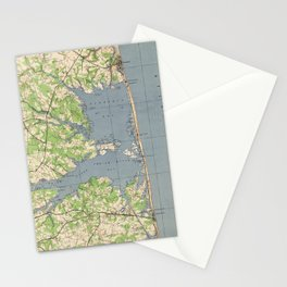 Vintage Rehoboth & Bethany Beach DE Map (1944) Stationery Cards