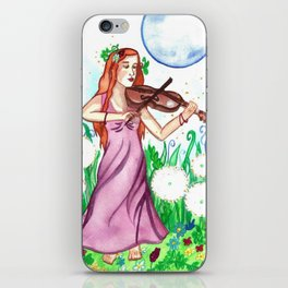 Fiddler and the Moon iPhone Skin
