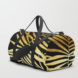 Tropical Palm Fronds Noir Duffle Bag