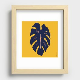 Gold Palm Recessed Framed Print