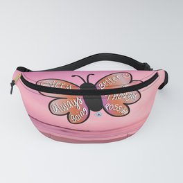 satisfied butterfly Fanny Pack