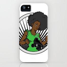 Black Roller Derby Girls Rock! iPhone Case